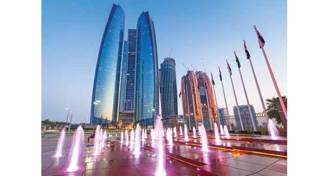 Fountains at the Etihad Towers