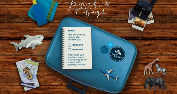 KLM Pack Your Bags Contest