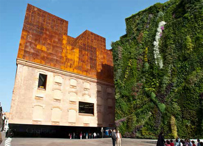 The Caixa Forum Museum and the Vertical Garden