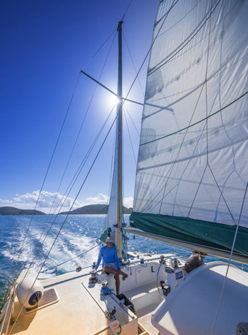 Sailing the clear blue waters of the British Virgin Islands