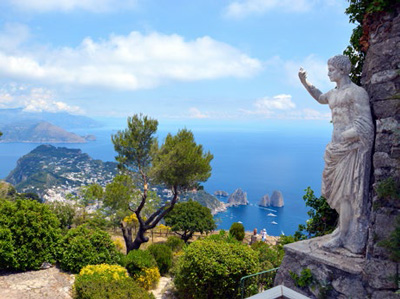 View of the Faraglioni Rocks in Capri