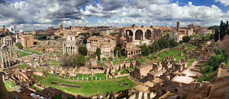 The Roman Forum as seen from Palatine Hill