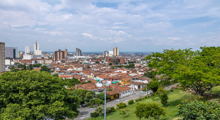 Aerial view of Cali city - Cali, Colombia