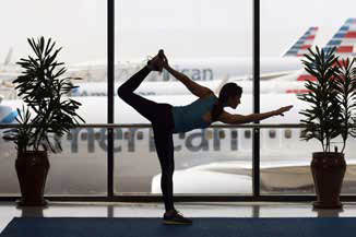 Dallas/Fort Worth Airport's Yoga Studio in Terminal D