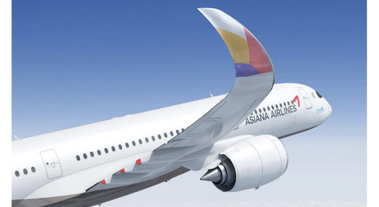 Asiana's Airbus A350 © ASIANA AIRLINES