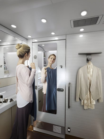 Airbus A380 dressing room © ASIANA AIRLINES