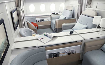 Best First-Class Seat Design © AIR FRANCE