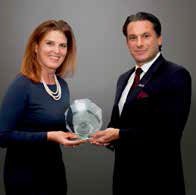 Heike Birlenbach, chief commercial officer, Lufthansa; Tamur Goudarzi-Pour, vice president, the Americas, Lufthansa