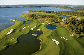 PerryGolf offers cruises which include golf at Bro Hof Slott in Stockholm, Sweden © PERRY GOLF