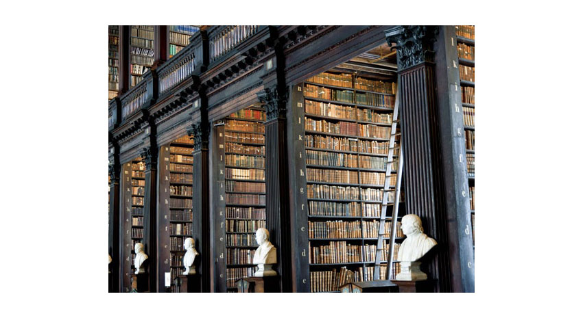 The Long Room in Trinity College Library
