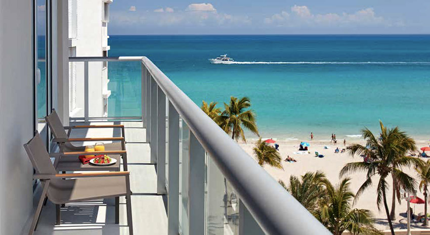 Costa Hollywood Beach Resort balcony view © COSTA HOLLYWOOD RESORT