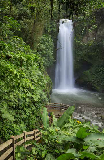 White Magic Waterfall in Costa Rica, a country recognized for sustainable tourism practices