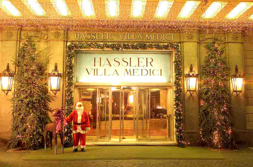 Hassler Entrance © Hotel Hassler Roma