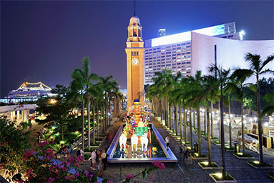 The Hong Kong Clock Tower is a remnant of the original Kowloon Station on the Kowloon-Canton Railway.