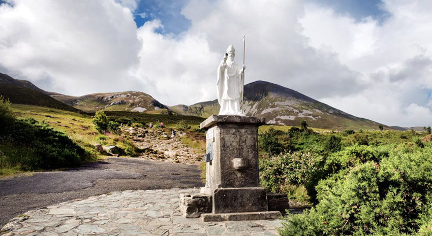 Statue at the start of the pathway to Croagh Patrick