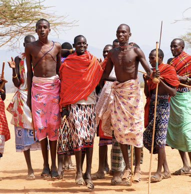 Maasai men jumping