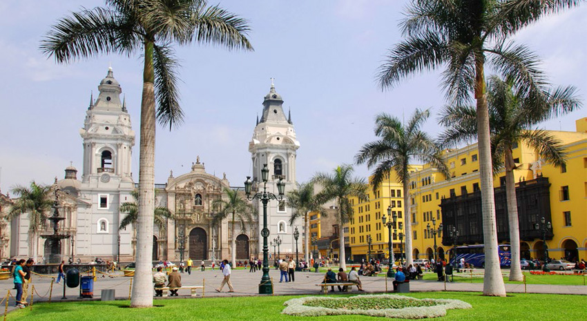 Cathedral at Plaza de Armas PHOTO: © MEUNIERD | DREAMSTIME.COM