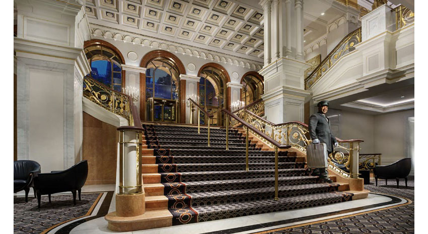 The Lotte New York Palace's grand staircase © LOTTE HOTELS & RESORTS