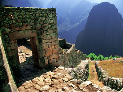 Steps to a ruin overlooking the Sacred Valley