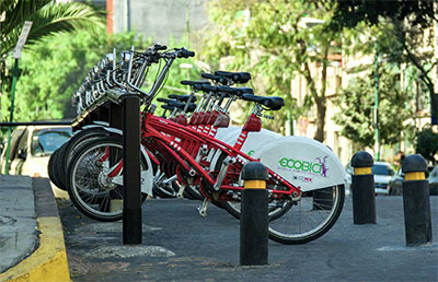 Bikes available to rent in the city © AGCUESTA | DREAMSTIME.COM