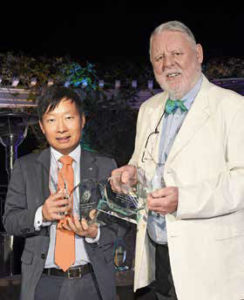 Jiho Choi, general manager, marketing, regional headquarters, Asiana Airlines; Terry Waite