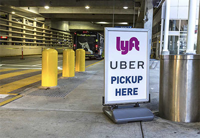 Airports even have Lyft and Uber pickup spots.