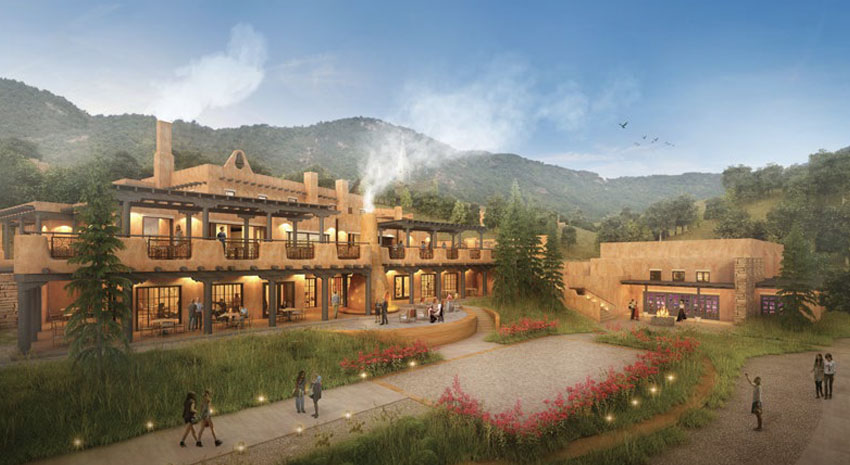 Aritst's renderings of Bishop's Lodge Resort and Spa © BISHOP'S LODGE RESORT AND SPA