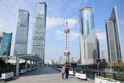 Lujiazui financial district and Pearl Tower PHOTO: © TEMPESTZ | DREAMSTIME.COM