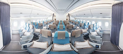 Airbus A350 economy class © SINGAPORE AIRLINES