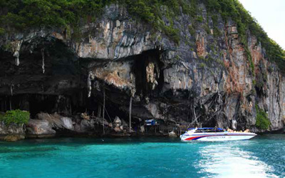 Viking Cave with birds' nests, Koh Phi Phi Leh