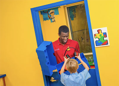 LEGOLAND's quiet room for guests with autism who may have difficulty waiting in line