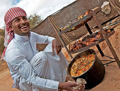 Bedouin cook at Captain's Camp in Wadi Rum