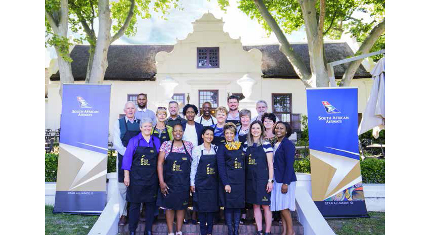 South African Airways' wine selection group