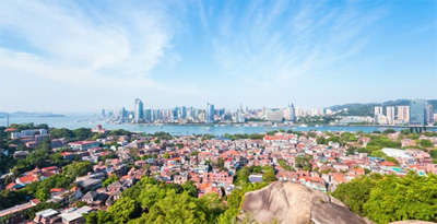 Aerial view from Gulangyu Island