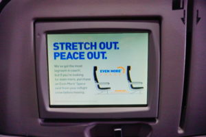 JetBlue Legroom on screen
