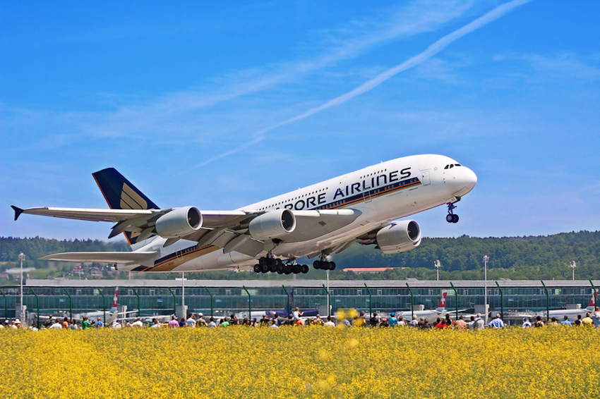Singapore Airlines A-380. Photo: Swisshippo - Dreamstime.com