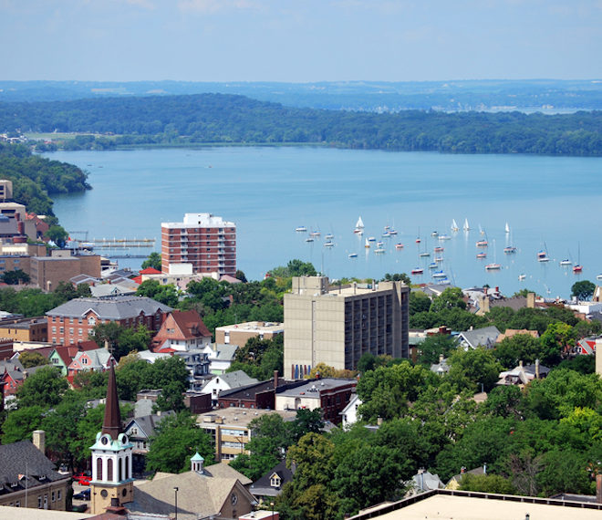 Downtown Madison, Wisconsin.